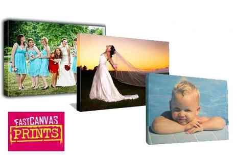 Fast Canvas Prints - 30cm by 40cm custom photo canvas show off your photos in style - Save 81%