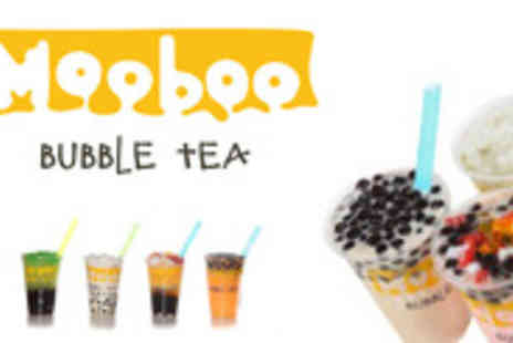 Mooboo - 2 Bubble teas in a choice of flavours with one tapioca or jelly topping - Save 51%