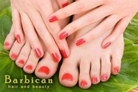 Barbican Hair and Beauty - Shellac Polish For Fingers and Toes - Save 43%