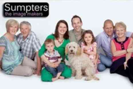 Sumpters The Imagemakers - Family Photoshoot With Two Prints and Digital Upload - Save 90%