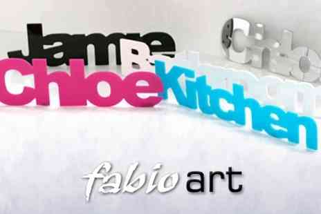 Fabio Art - Personalised Acrylic Wall Lettering - Save 63%