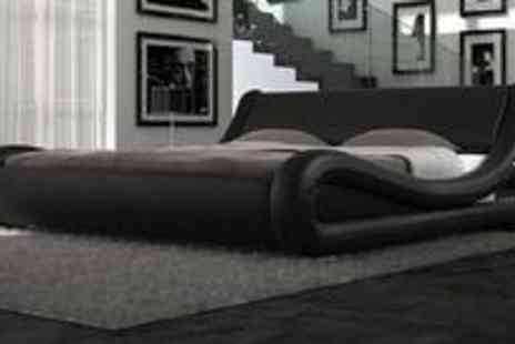 Ailem Designs - Double size faux leather Dario bed - Save 39%