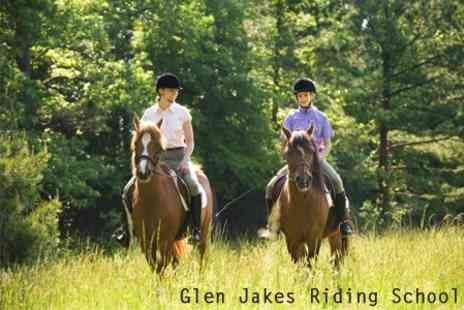 Glen Jakes Riding School - Private Horse Riding Group Lessons - Save 61%