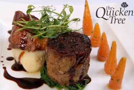 The Quicken Tree Restaurant & Bar - Two Course Meal For Four - Save 61%