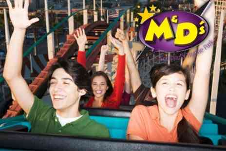 M&Ds Theme Park - Unlimited Ride Wristband with Outside Rides - Save 50%