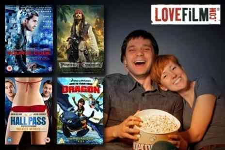 LOVEFiLM - Three Months of Unlimited DVD and Game Rental and Streaming - Save 80%