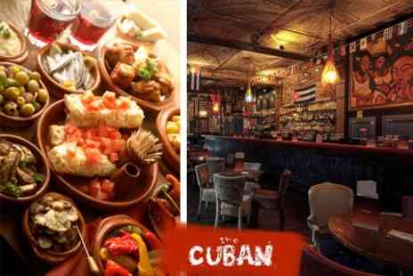 The Cuban - Dinner of Tapas for Two, Paella to Share and Carafe of Sangria - Save 60%