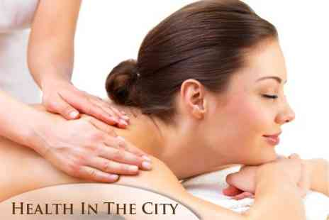 Health in the City - Holistic Deep Tissue Body Massage or Facial Massage - Save 60%