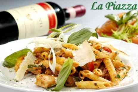 La Piazza Restaurant - Two Course Italian Meal for Four People - Save 60%