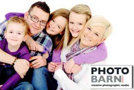 Photobarn Studios - One Hour Family Shoot With Canvas Print - Save 77%