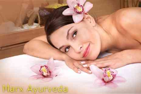 Marx Ayurveda - Full Body Herbal Oil Massage and Complete Herbal Facial - Save 72%