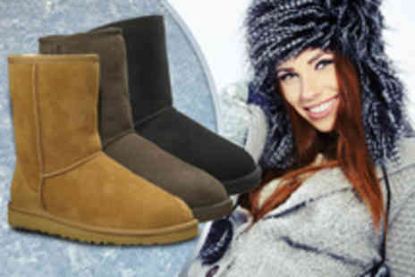 Evaniy - Wool lined boots in a choice of black, chocolate or tan - Save 80%