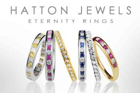 Hatton Jewels - An 18ct Yellow or White Gold Sorento Micro Set Black Diamond Handmade Eternity Ring - Save 53%