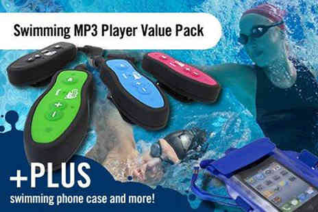 Waterproof MP3 Player - 4GB Waterproof MP3 Player & Headphones Listen to Music Whilst Swimming - Save 51%