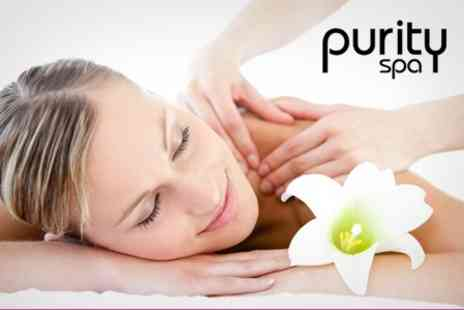 Purity Spa - Girly Pampering Package Including Choice of Massage or Facial Plus Deluxe Manicure or Pedicure - Save 71%
