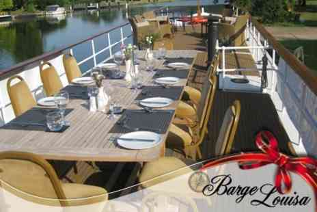 Barge Louisa - Four Course Christmas Dinner On Board The Five Star Luxury Barge For One People - Save 50%