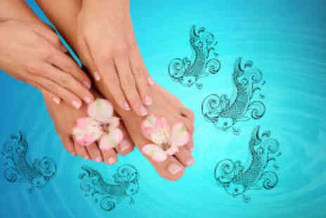 Valentinos Hair Salon - Fish pedicure or manicure - Save 74%