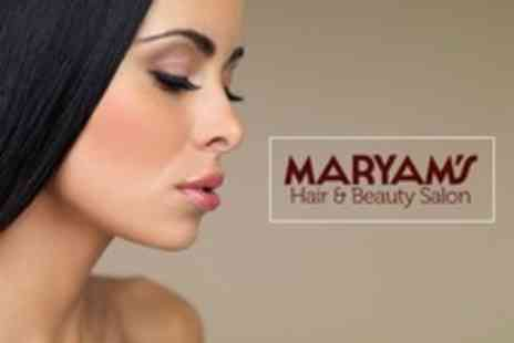 Maryam's Hair and Beauty Salon - Choice of Facial Plus Lash Extensions, Brow Thread and Tint  - Save 63%