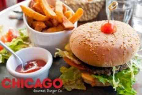 Chicago Gourmet Burger - Burger and Drink For Two  - Save 40%