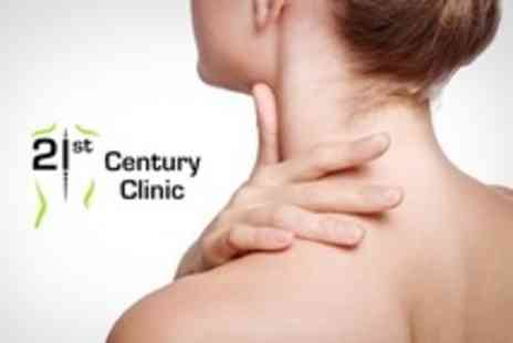 21st Century Clinic - Two Physiotherapy Sessions Plus 60 Minute Consultation - Save 26%