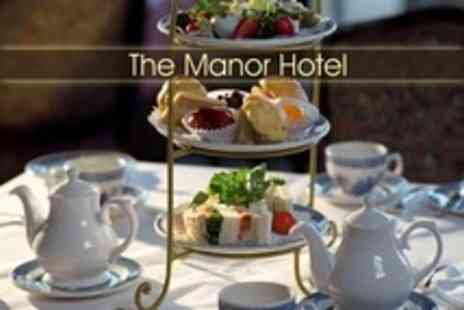 The Manor Hotel - Champagne Afternoon Tea For Two - Save 52%