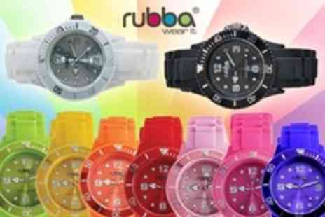 Zircontime - Rubba Watches With Japanese Movement and Mineral Glass Casing in Choice of Colours - Save 72%