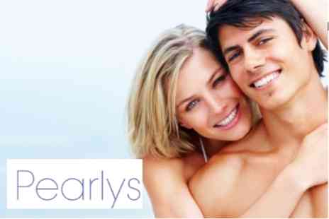Pearlys - Laser Teeth Whitening With Three Power Whitening Applications - Save 74%