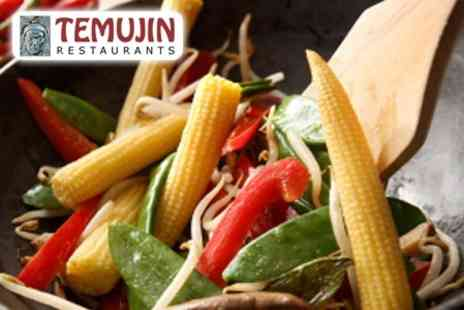 Temujin Restaurants - Two Course Mongolian Stir Fry For Two - Save 61%