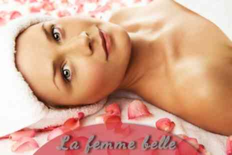 La Femme Belle - Three Beauty Treatments From Manicure Massage Facial - Save 70%