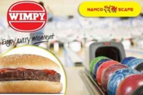 Namco Station - Ten Pin Bowling Two Games For Four With 2oz Wimpy Hamburger Each - Save 79%