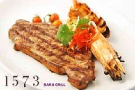 1573 Bar and Grill - Two Course Steak and Seafood Meal With Coffee - Save 59%