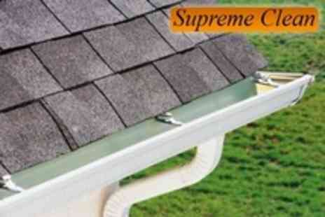 Supreme Clean - Roof Power Wash Plus Gutter, PVC and Window Clean - Save 63%