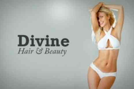 Divine - Full Leg  Waxing Package Plus Choice of Two Areas - Save 66%