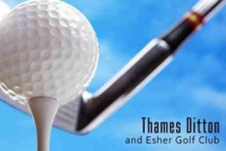 Thames Ditton and Esher Golf Club - 18 Golf Holes For Two - Save 63%