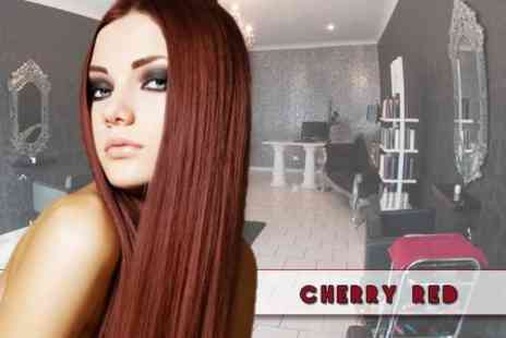 Cherry Red - Alphaparf Full Colour or Roots Tint Plus Cut and Blow Dry - Save 63%