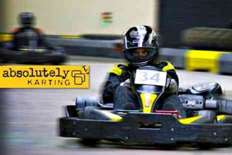 Absolutely Karting - One Hour of Go Karting - Save 64%