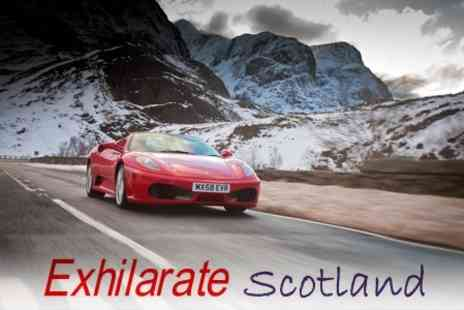 Exhilarate Scotland - Drive a Ferrari, Aston Martin, Lotus or Porsche With Choice of Eight Laps - Save 63%
