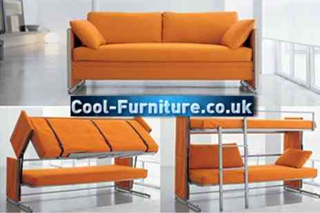 Cool-Furniture.co.uk - Sofa Bunk Bed in Choice of Colours - Save 67%