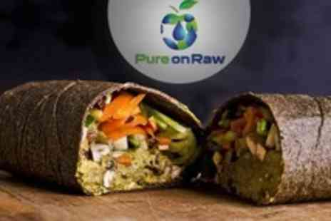 Pure On Raw - Two Course Vegan Meal For Two With Tea - Save 50%