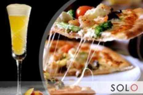 "Solo - Handmade 12"" Pizzas For Two With Bellini Cocktail Each - Save 59%"