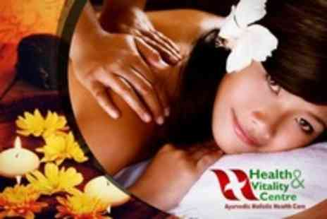Health and Vitality Centre - One Hour Ayurvedic Massage - Save 55%