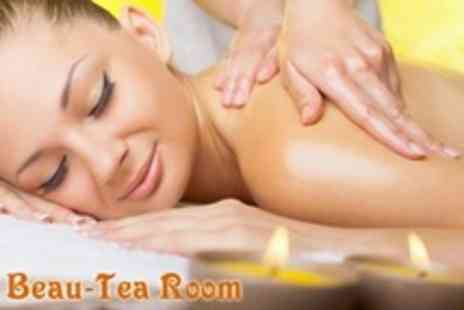 The Beau Tea Room  - One Hour Massage Plus Facial, Brow Wax and Manicure or Pedicure For One - Save 63%