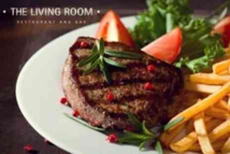 The Living Room - Steak Meal With Dessert For Two - Save 51%