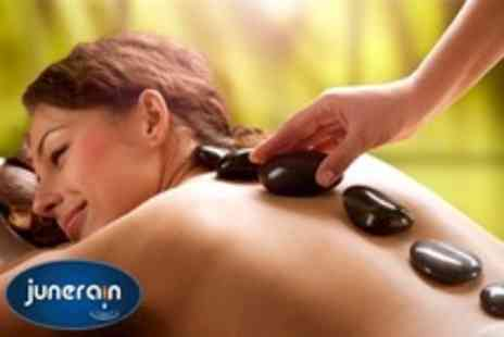 Junerain Beauty and Bridal - Hot Stone Back Massage, Indian Head Massage, Foot Massage and Facial For One - Save 40%