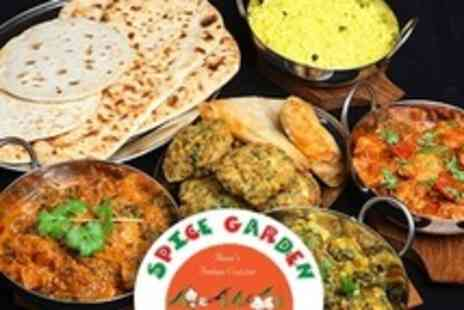 Spice Garden - Two Course Indian Meal For Two With Rice or Naan - Save 50%