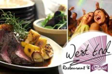 West End Cabaret - Carvery Meal With Live Entertainment or Disco Plus Bubbly for One - Save 59%