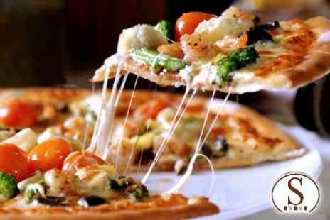 Sole D oro - Half Metre of Pizza and Two Glasses of Wine - Save 53%