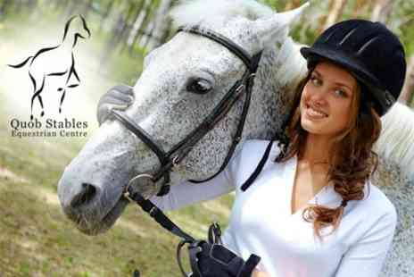Quob Stables - One Hour of Horse Riding Plus Breakfast or Lunch - Save 55%