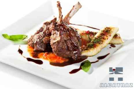 Alcatraz Brasserie - Two Course A La Carte Meal For Two With Glass of Wine Each - Save 57%