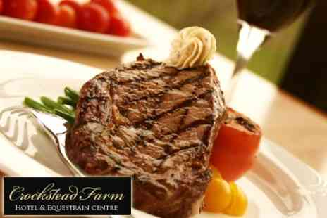 Crockstead Farm Hotel - Three Course Meal For Two With Glass of Wine - Save 53%